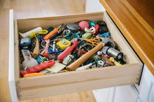 Cabinet Junk Drawer At Home