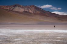 Lone Walker Treks The Bolivian Altiplano.