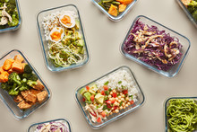 Composed Lunchboxes With Healthy Meals