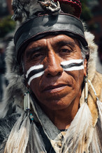 Native American Portrait - Mat...