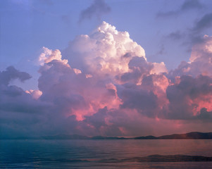 Colorful, Fluffy, Surreal sunset clouds