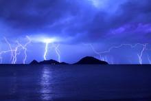 Dangerous Storm Of Lightning A...
