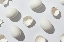 Pattern Of White Eggs And Eggs...
