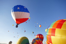 Hot Air Balloons Rising At A F...