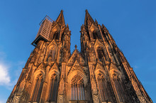 Front Facade Of Cologne Cathed...