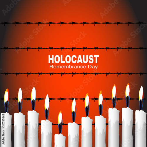 Fotografiet Banner/poster for Holocaust remembrance day on January 27