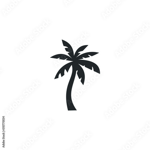 tropical palm trees icon template color editable. Summer Black palm tree silhouette symbol vector sign isolated on white background illustration for graphic and web design. Wall mural