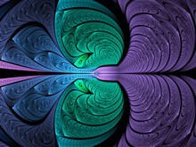 Abstract Fractal Background, C...