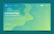 Website Landing Page Template With Abstract Background