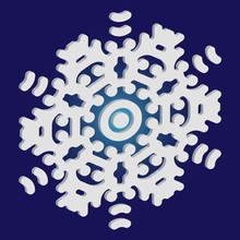 Simple Snowflake With Shadow O...