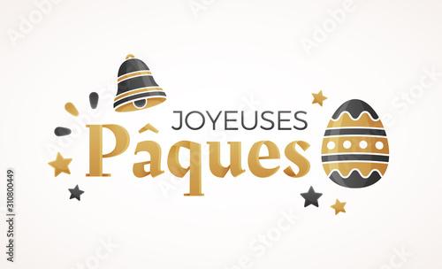 Fototapeta Joyeuses Pâques - Bannière, carte de vœux obraz