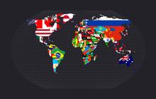 World Map With Flags. Kavraysk...
