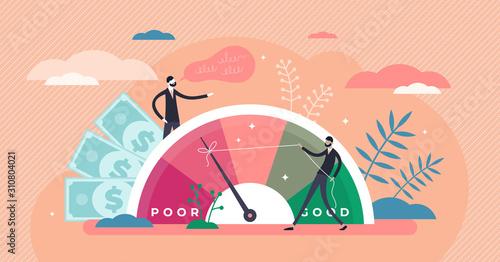 Fotografia Credit score vector illustration