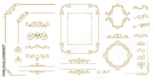 Luxury Gold vintage invitation vector set Fototapete