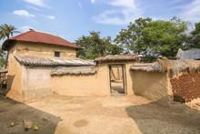 Rural Indian Village At Bolpur...