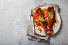 Baked Red Sea Bass On Kraft Wh...