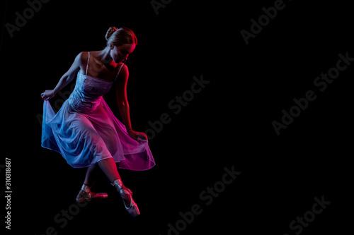 Fotografie, Obraz color portrait ballerina dancing