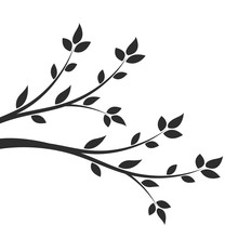 Silhouette Of A Branch With Le...