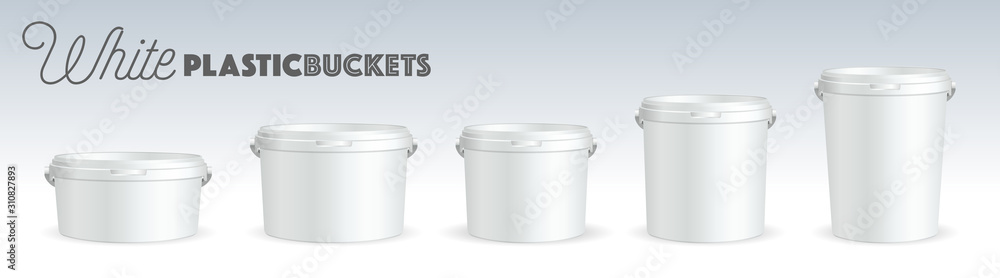 Fototapeta White Plastic bucket