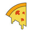 Pizza Icon Vector Simple Design