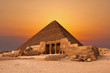 Great pyramids on the plateau of Giza, Egypt, Africa.