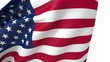 Flag of The United States Transition Scene on White Background. 3D Rendering