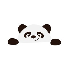 FototapetaSmiling panda face on a white background vector