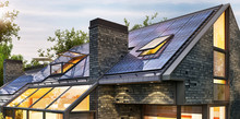 Solar Panels On The Roof Of A ...