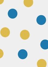 Frame Template On Polka Dots B...