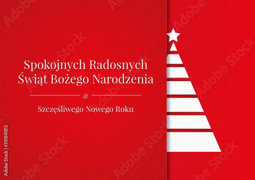 Obraz Boże Narodzenie - kartka świąteczna - fototapety do salonu