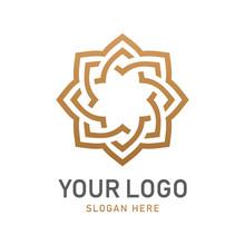 Luxury Geometric Gold Logo Des...