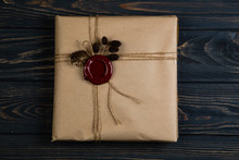 Gift Wrapped In Craft Paper, T...