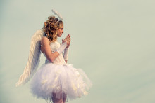 Angel Child Girl With Curly Bl...