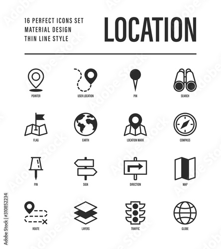 Fotografiet Location and navigation set