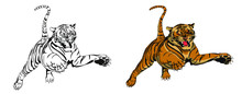 Illustration Of Tigers On The ...