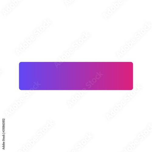 Fotomural  Glyph Gradient Minus icon isolated on background