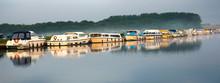 Boats At Dawn, Norfolk Broads,...