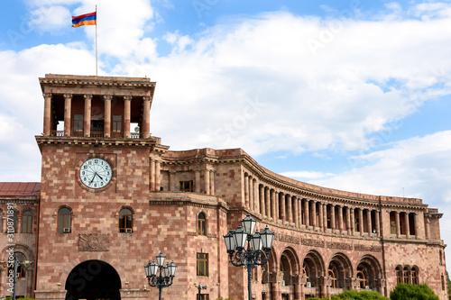 Obraz na plátne  Yerevan, Armenia-April 28 2019: residence of Prime Minister of Armenia in Yereva