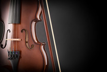 Violin Detail In The Dark With...
