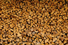 Pile Of Wood Cut For Fireplace