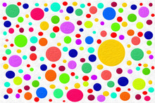 Illustration Of Multi-colored Textured Balloons On A White Background.Template For Fabric.Colorful Dragees For A Holiday Card.