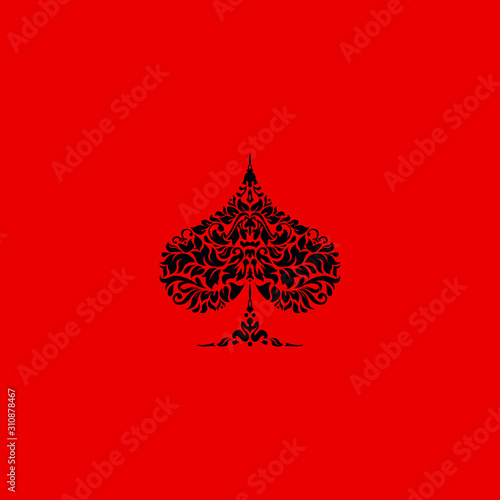 Poker playing cards suit Spades design shape single icon Wallpaper Mural