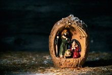 The Holy Family In A Rustic Na...