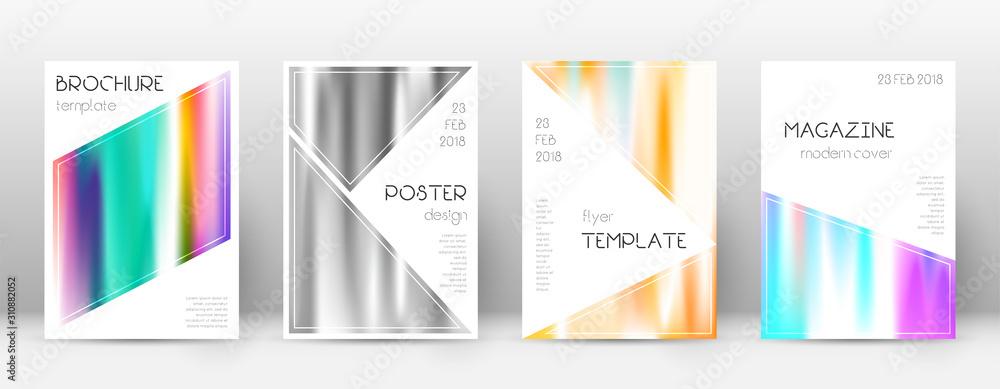 Fototapeta Flyer layout. Triangle splendid template for Broch