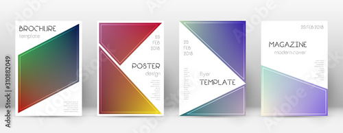 Photo Flyer layout. Triangle indelible template for Broc