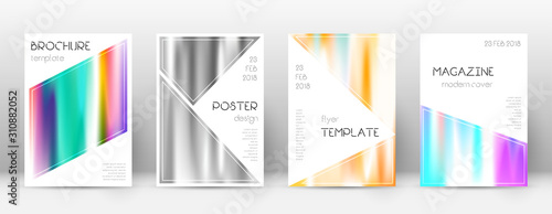Flyer layout. Triangle splendid template for Broch Canvas Print