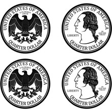 Ready Minted High Quality Quarter Dollar Coin Vector