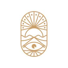 Logo Symbol Eye With Sun Creat...