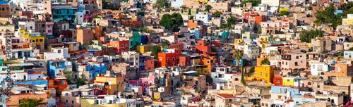 Fototapeta colorful cityscape of mexican city Guanajuato Mexico