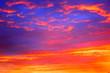 Leinwanddruck Bild - feueriger Sonnenaufgang